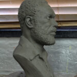 Clay sculpture created by hand