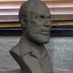 hand sculpted clay bust