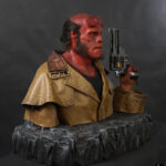 hand carved foam prop Hellboy