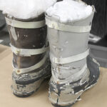 Rebel Trooper prop Hoth boots from Star Wars: The Empire Strikes Back