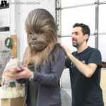 Chewbacca costume and mask for Adam Savage
