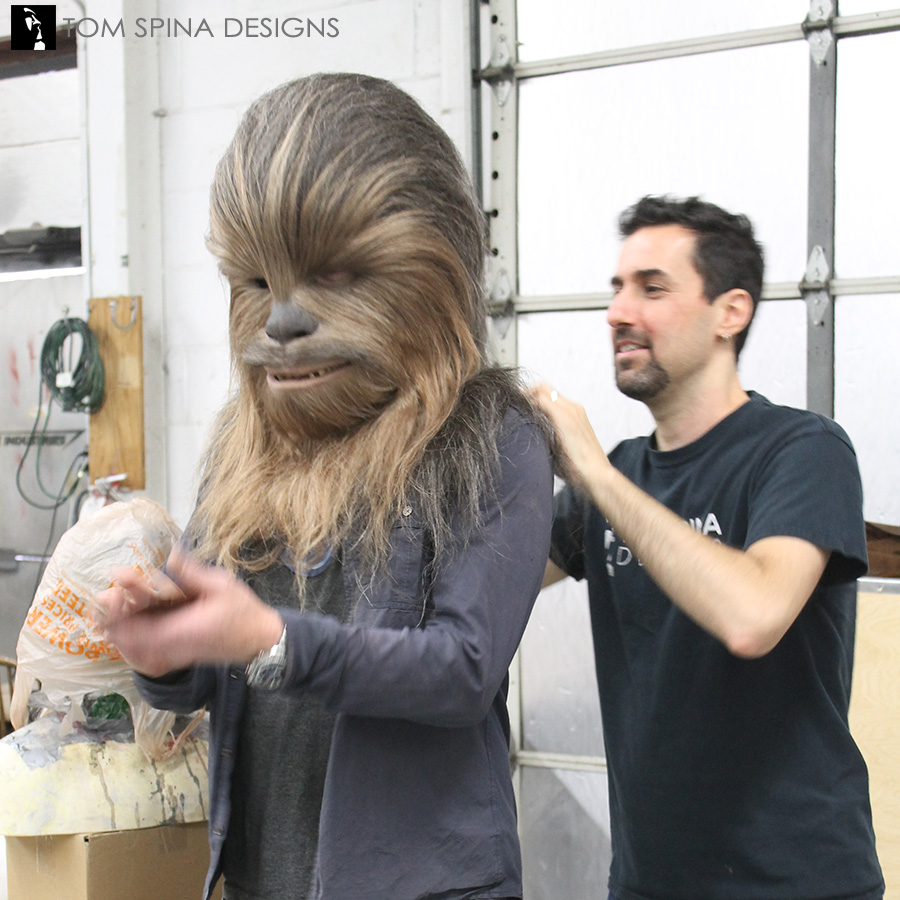 ... Chewbacca costume and mask for Adam Savage ...  sc 1 st  Tom Spina Designs & Chewbacca Mask for Adam Savage - Tom Spina Designs » Tom Spina Designs