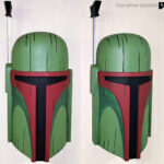 foam carved tiki mask prop Boba Fett