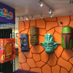 foam carved tiki mask props from Star Wars