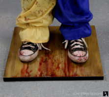 bloody sneakers from Halloween Clown costume statue