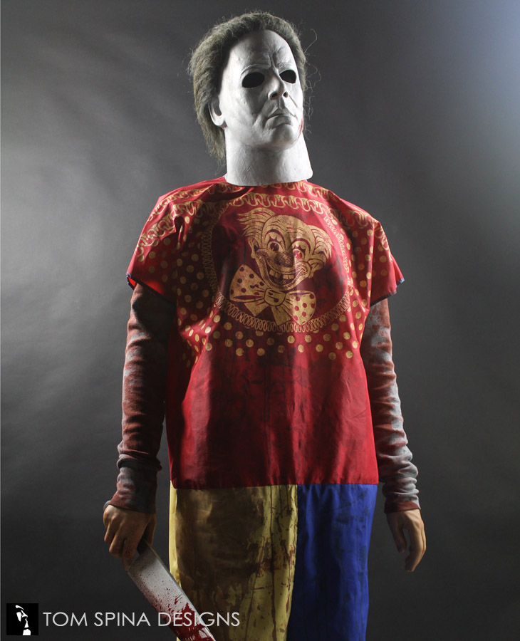 Halloween Clown Mask Michael Myers.Michael Myers Halloween Clown Costume Display Tom Spina