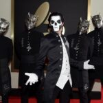 Ghost Papa 3 Mask with the band