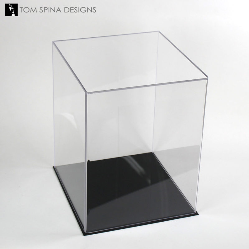 custom museum style acrylic helmet display case