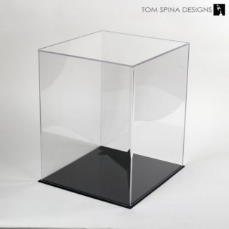 clear 5 sided acrylic cover for helmet display case