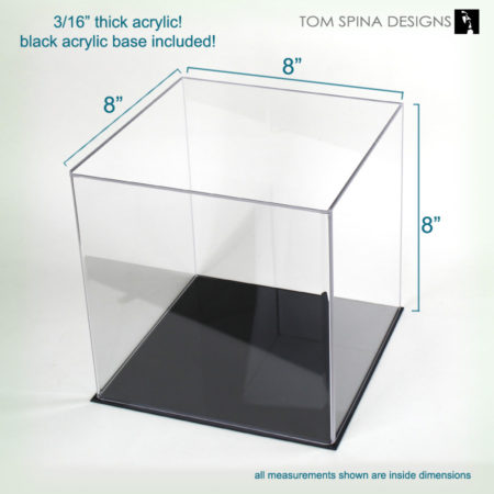 small acrylic display case for memorabilia and collectibles.