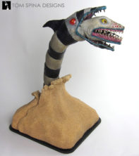 Beetlejuice Sandworm Puppet movie prop