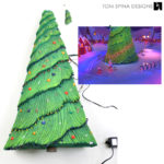 large scale miniature christmas tree prop