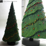 model christmas tree miniature lights