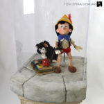 custom acrylic display case for Pinocchio puppet