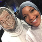 Ibtihaj Muhammad and Stephen Colbert fencing