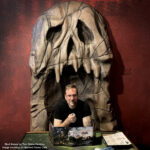 foam skull thone prop for gaming cafe booth