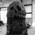 Skull island, skull rock formation prop for events or trade shows